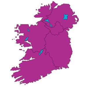 Carte de l'Irlande